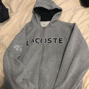 Men's Lacoste Zip Up Hoodie Size Large